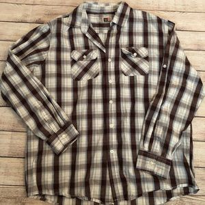 Phat Farm plaid button up shirt XL